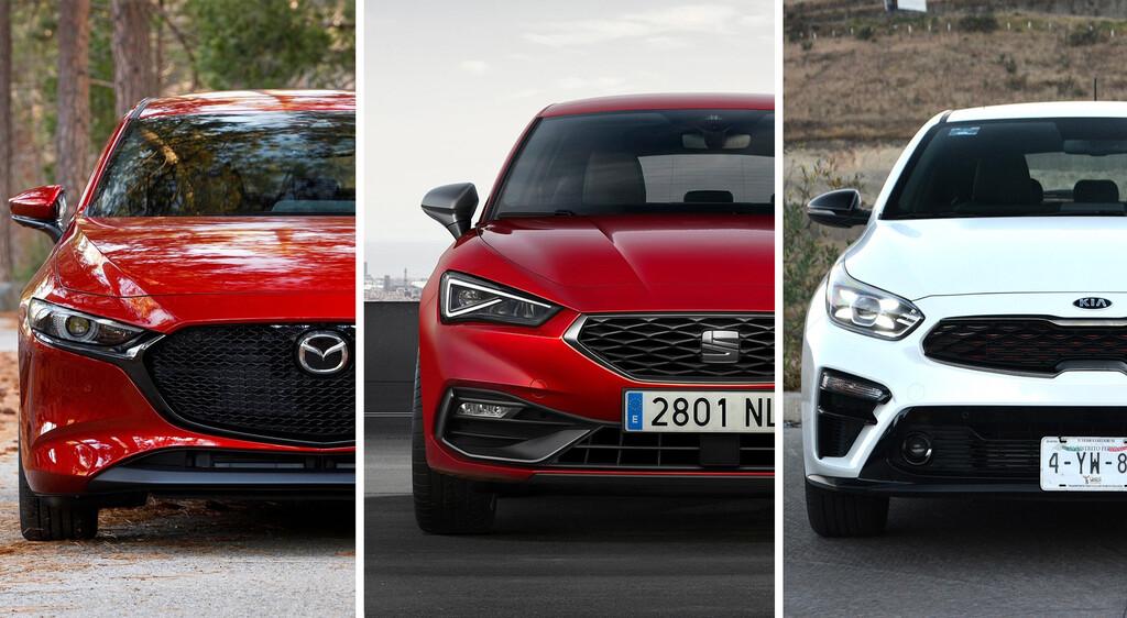 SEAT Leon 2021 vs. Mazda 3 HB vs. KIA Forte HB: los hatchback más populares de México frente a frente