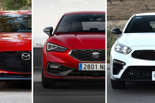 SEAT León 2021 vs. Mazda 3 HB vs. KIA Forte HB: los hatchback más populares de México frente a frente