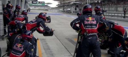 Red Bull ajusta sus pit-stop con la ayuda de un láser