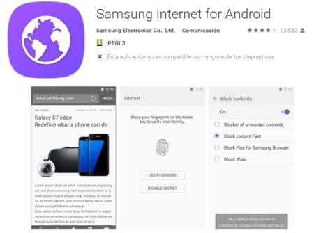 El navegador Samsung Internet ya sirve como adblock