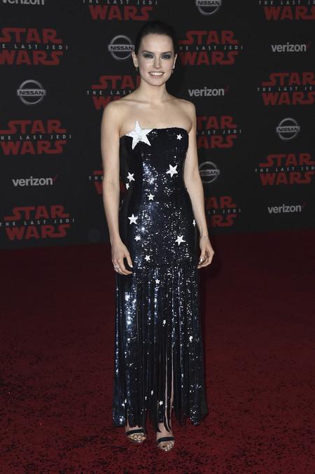 star wars ultimo jedi alfombra roja look Daisy Ridley
