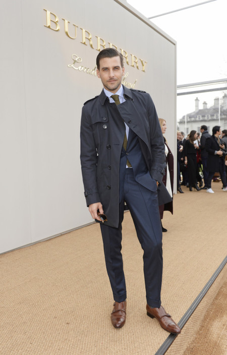 Johannes Huebl Wearing Burberry At The Burberry Menswear January 2016 Show