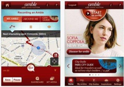 Amble, una aplicación viajera para el iPhone