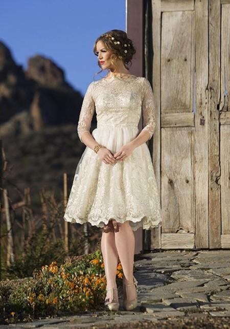 Vestido encaje antiguo novia modcloth