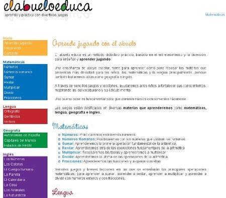 """""""El abuelo educa"""", web con recursos educativos para los peques"""