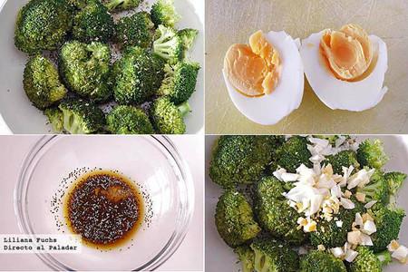 Ensalada templada de brócoli. Pasos