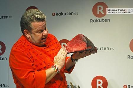 Presentación de Rakuten y showcooking de Chicote
