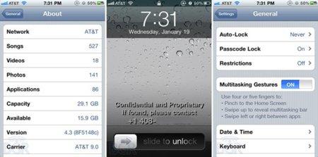 iOS 4.3 beta 2 con gestión multitarea mediante gestos y más