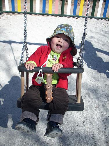 La foto de tu bebé: en el columpio
