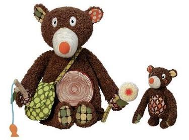 Bonitos peluches de papá oso y su osito