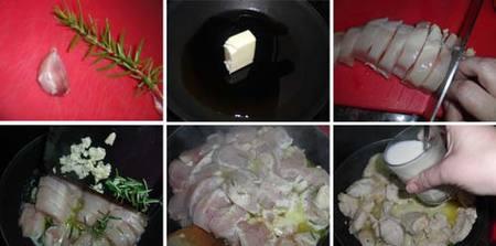 Preparación de las pechugas de pollo con leche