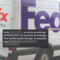 """""""Su envio se entrego en el punto de entrega"""": una nueva estafa por SMS busca hacerse con el control de tu móvil y tus datos"""