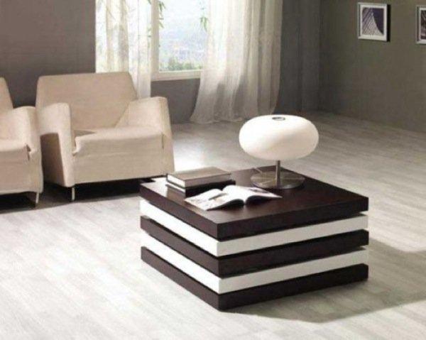 Una mesa de centro con compartimentos ocultos - Mesitas para salon ...