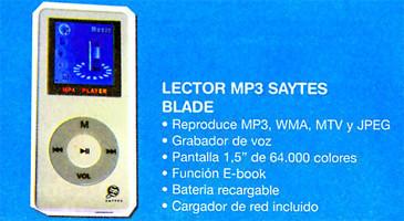 Clones del iPod: Saytes Blade