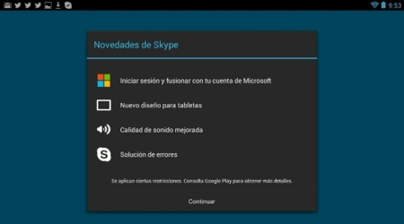 Skype se renueva para Android y Windows 8