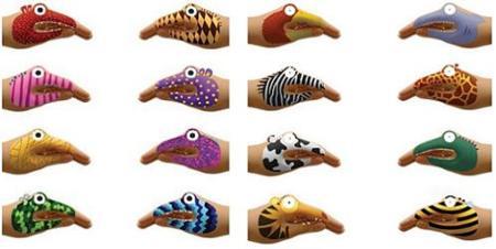 Tatuajes temporarios para jugar con las manos