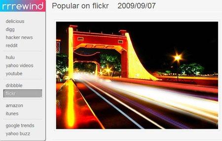 Lo más popular de cada día en Flickr con Rrrewind