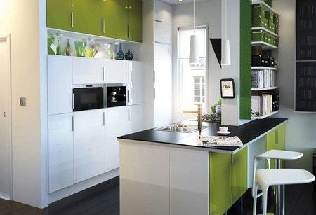 ikea cocina verde