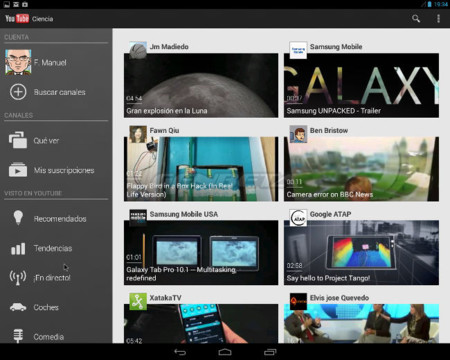 Android-x86 ejecutando la aplicación de YouTube