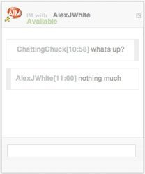 AIM ya permite que contacten contigo desde tu web