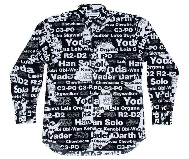 Comme des Garcons Star Wars camisa