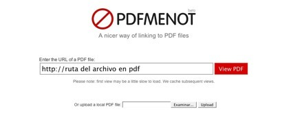 PDFMenot, visualiza archivos PDF a través de la web