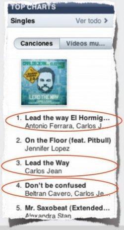 Top 10 iTunes. Carlos Jean