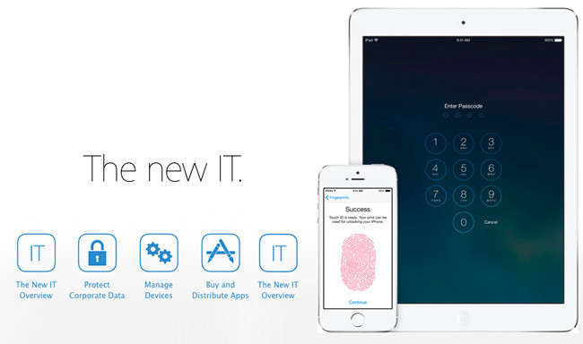 Apple mejora la gestión de los dispositivos iOS para empresas y escuelas