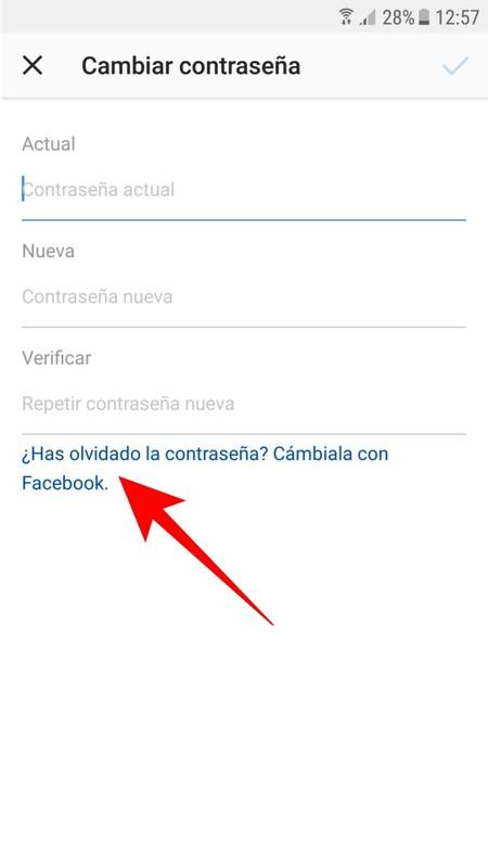 Cambiar Contrasena Con Facebook
