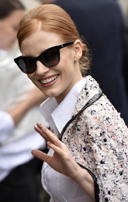 Jessica Chastain, la invitada más estilosa en el desfile de Chanel Alta Costura