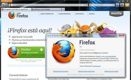 Firefox 7 y todo sereno...