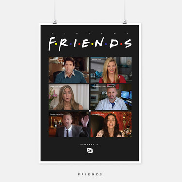 Desde Juego de Tronos a Friends: un diseñador adapta los carteles de estas series a la cuarentena y nos encanta