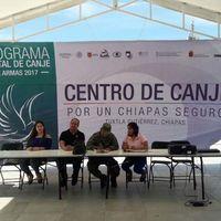 En Chiapas realizaron un programa para el intercambio de armas por laptops y tablets