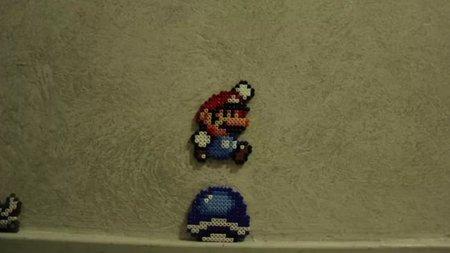 Mario en el mundo real en stop-motion y con Hama Beads