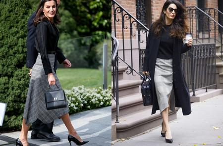 Tres faldas de cuadros (casi) idénticas a la que han llevado Letizia y Amal Clooney que están en Amazon en versión 'low cost'