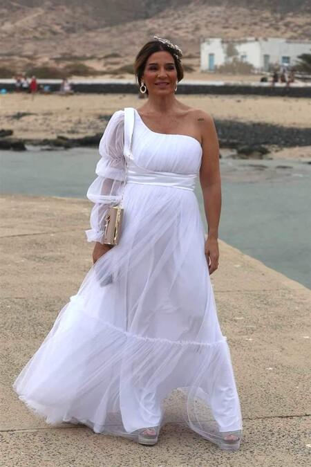 Raquel Bollo en la boda de Anabel Pantoja y 'El Negro'