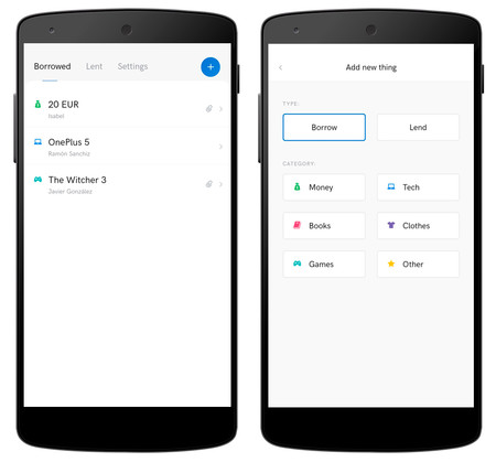 iLend, una app para controlar lo que hemos prestado y lo que nos han dejado otros