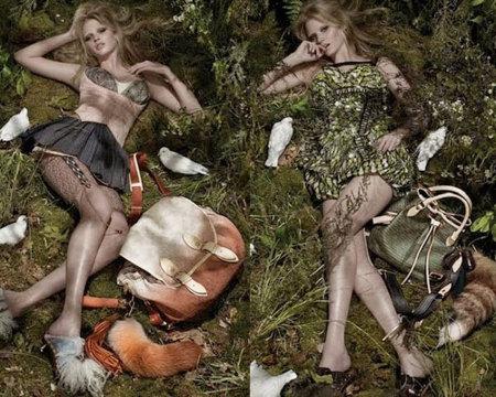 Primeras imágenes de Lara Stone para Louis Vuitton Otoño-Invierno 2009/10