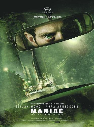 Imagen con el cartel del remake de 'Maniac'