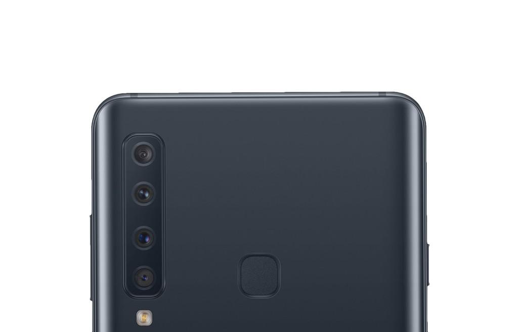 Las cuatro cámaras traseras del Galaxy A9 aparecen en una imagen filtrada y demuestran que para Samsung más es mejor