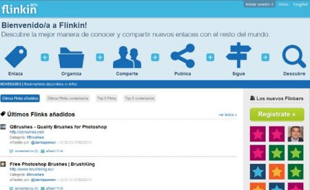 Flinkin, red social para compartir enlaces