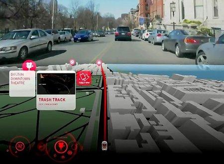 Aida 2.0, navegador gps 3D, HUD y realidad aumentada, para Audi