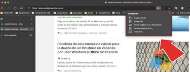 Microsoft prueba en Edge Canary un nuevo menú para compartir páginas web más rápido y así puedes activarlo