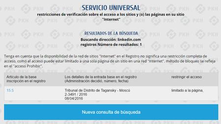Linkedin Bloqueo