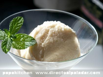 Cómo hacer helados y sorbetes en casa II. Receta