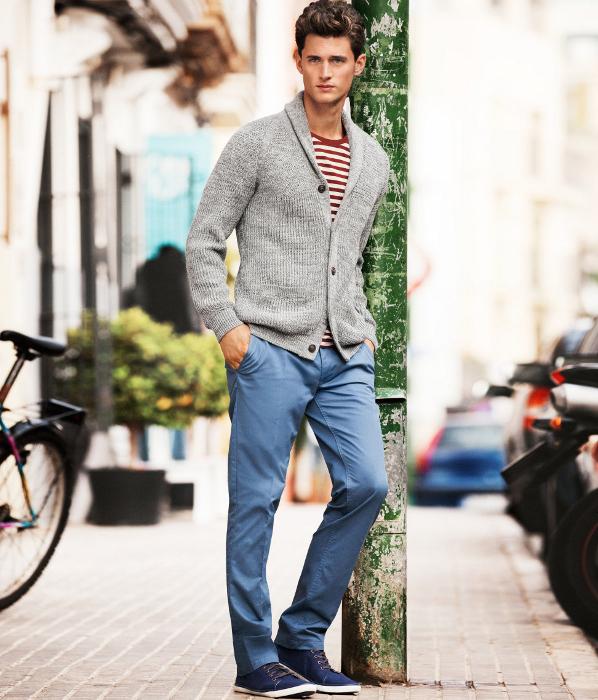 Pantalones chinos azul H&M 2013