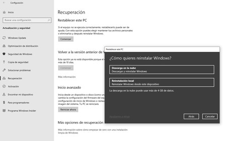 Restablecer Windows 10 3