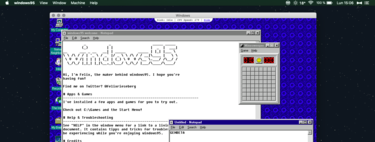 Windows 95 that works as an app on Windows 10, Linux and Mac now brings Doom, Wolfenstein3D and the glorious Netscape Navigator