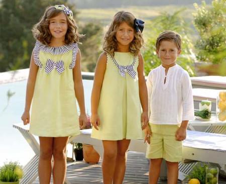 foque trajes arras amarillos