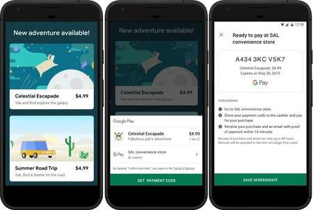 Comprar apps con dinero físico en Google Play